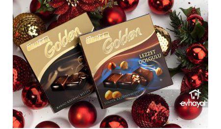 Ülker Golden Bitter Çikolata  En yüksek kakao oranına sahip çikolatalardan biri de Ülker Golden Bitter. Yüzde 70 oranında kakao kuru maddesi içeriyor. Bu da antioksidanlar, demir, magnezyum açısından zengin olmasını sağlıyor. Ancak doymuş yağ ve kalori açısından da yüksek. Yoğun kakao oranına sahip olmasına karşın, ağızda eriyen ve çok fazla acı olmayan bir tada sahip.  100 gr.'da;   601 kcal. enerji,   403 gr. yağ,   10.1 gr. protein