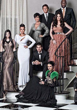 Kardashian'lardan yeni yıl kartı!