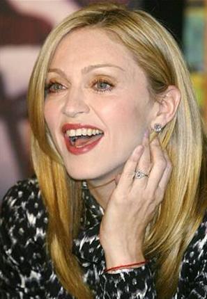 O genç kız Madonna...