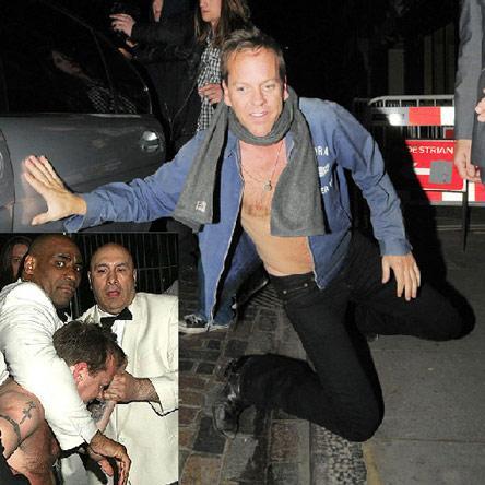 Bir kaç yıl önce alkolü fazla kaçırıp bir gece kulübünde pantolununu indirerek sansasyon yaratan oyuncu Kiefer Sutherland'ın bu kez de striptiz bardan kovulmuştu.