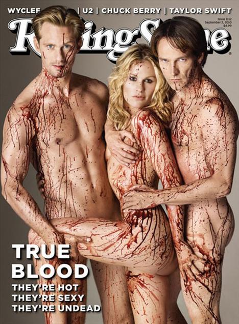 """Rolling Stones dergisinin """"True Blood' kapağı, son zamanlarda internetteki en popüler tartışma konularından biri.   Kimileri son derece beğenirken, bir kısım kullanıcı da söz konusu fotoğrafı mide bulandırıcı buluyor.   Ama bu tür ürkütücü kapakların dikkat çektiği de ortak bir kanı. İşte birkaç örnek daha:"""
