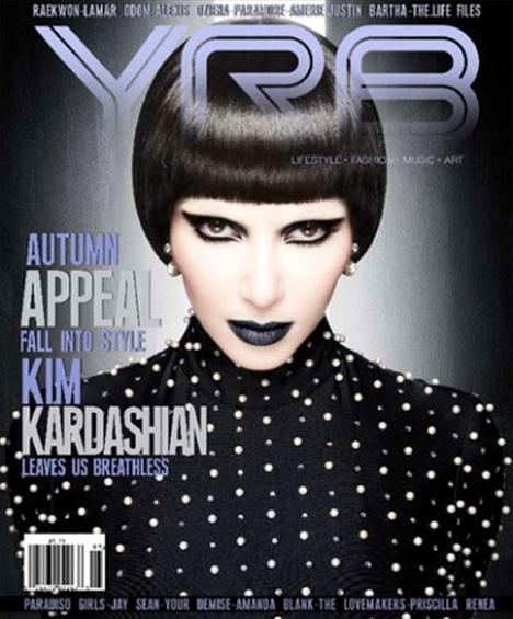 Gotik bir Kim Kardashian da ürkütücü değil mi?  (Milliyet)