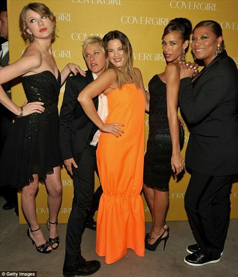 Taylor Swift, Ellen DeGeneres, Drew Barrymore, Dania Ramirez ve Queen Latifah