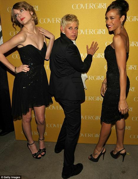 Taylor Swift, Ellen DeGeneres,  Dania Ramirez