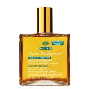 Işıltılı güzellik!  Nuxe'ün yeni ürünü Huile Prodigieuse çok amaçlı  kuru yağla, siz de saten yumuşaklığında bir cilt ve ipeksi saçlara sahip olabilirsiniz.