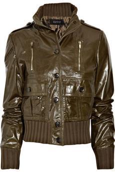 Gucci  Spor kombinlerle tamamlanabilecek deri ceket