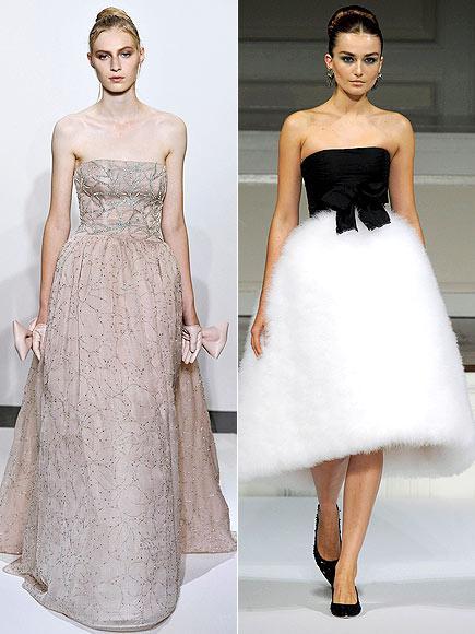Kırmızı halı için Hathaway'in hoşuna gidebilecek seçenekler arasında pembe Valentino tuvalet ve siyah - beyaz Oscar de la Renta var.