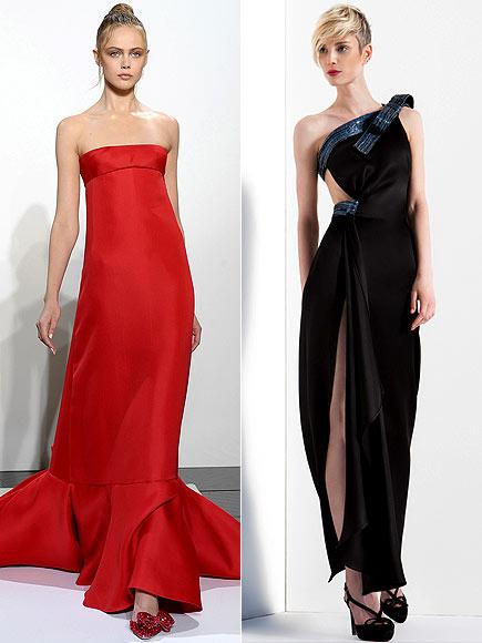 Danes kırmızı halı için, kırmızı, straplez Valentino'yu ya da derin yırtmaçlı, siyan Giorgio Armani'yi seçebilir.