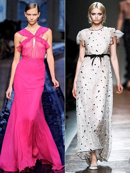 Kırmızı halı için Williams'ın tercih edebileceği elbiseler arasında pembe Jason Wu ve puantiyeli Valentino var.