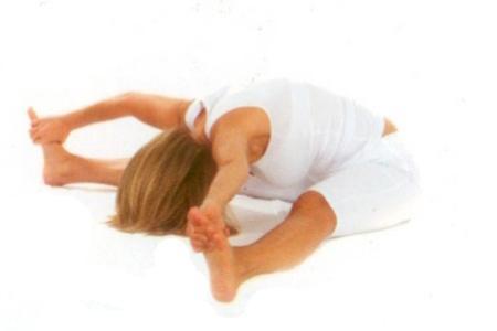Bhumasana  •Bacaklarınızı açabildiğiniz   kadar açarak yere oturun.  •Nefes verirken ,  gögüs kafesinin ileriye çıkartarak öne doğru eğilin ve ayaklarınızı  yakalayın.  •Nefes alın ve nefes verirken,  öne doğru eğilin ve başınızı yere yaklaştırın.