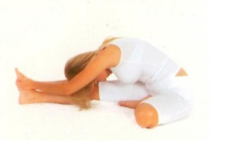Canu Şirşasana  •Bacakları öne uzatıp matın üzerine oturun. Nefes alırken, sağ dizinizi bükün, topuğunuz ve ayak başparmağınız sol uyluğunuzun iç tarafına dokunacak şekilde sağ ayağınızı kendinize çekin.  •Nefes verirken, sol ayağınızı her iki elinizle kavrayın.  •Nefes alın ve nefes verirken, eğilerek başınızı sol dizinize yaklaştırın.