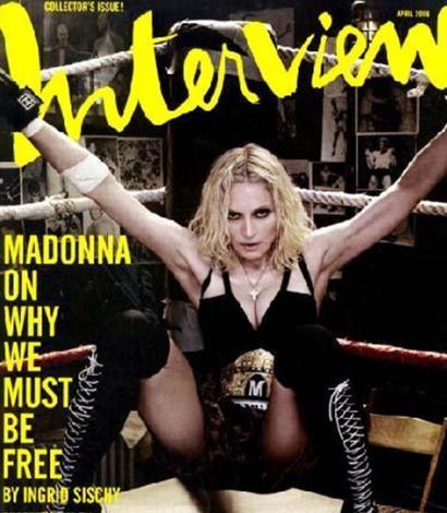 Pop müziğin kraliçesi Madonna'yı.