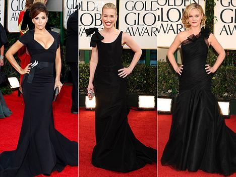 Siyah kuyruklu elbiseler bir çok ünlüde gözümüze çarptı.