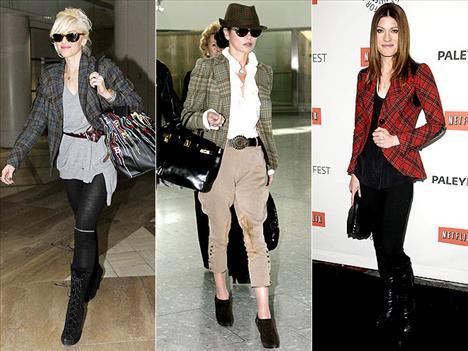 Binici stili Ekoseli blazer ceketler hem çok asil, hem de çok şık görünmemizi sağlıyor.