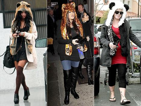 Hayvan kulakları Bu haberimizden sonra kaç kişi koşup bu şapkalardan alacak bilmiyorum ama, hayvan kulakları Hollywood'da çok popüler.