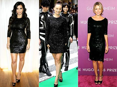 Parlak siyah elbiseler Parlak olsun, mini olsun, e daha ne olsun?