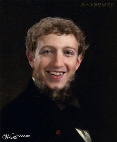 Mark Zuckerberg Worth1000.com'un hazırladığı 'Modern Rönesans' isimli yarışmada, Rönesans dönemi eserleri Hollywood yıldızlarına uyarlandı. İşte yarışmaya katılan çalışmalardan bazıları...   William Adolphe Bouguereau - Portre  Ressam: William Adolphe Bouguereau