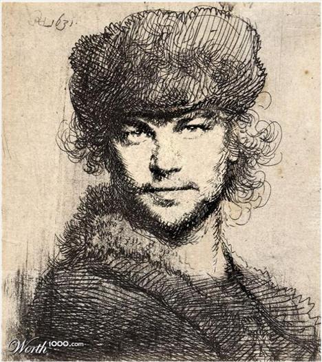 Leonardo Di Caprio Rembrant'ın portresi  Ressam: Rembrant