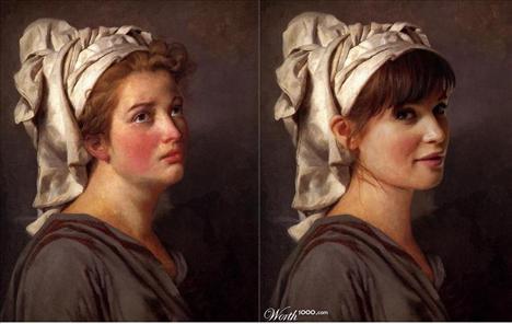 Gemma Arterton Türbanlı genç bir kadının portresi  Ressam: Jacques Louis David