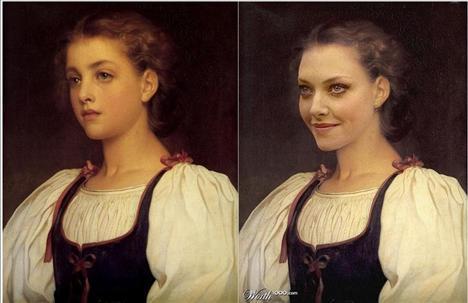 Amanda Seyfried Biondina  Ressam: Lord Frederick Leighton