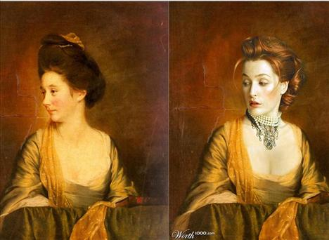 Gillian Anderson Susannah Leigh'in Portresi  Ressam: Wright Joseph