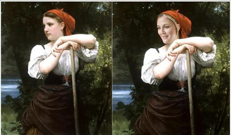 Drew Barrymore The Haymaker  Ressam: William Bouguereau