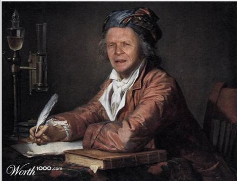 Anthony Hopkins Dr. Alphonse Leroy-Portre  Ressam: Jacques-Louis David