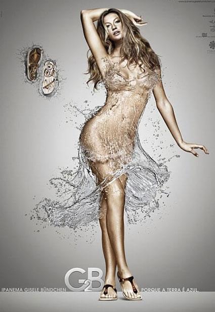 Victoria's Secret melekleri için çıplaklık sıradanlaşmış olsa da Gisele Bundchen kendi tasarımı olan terlikler için tamamen soyundu.