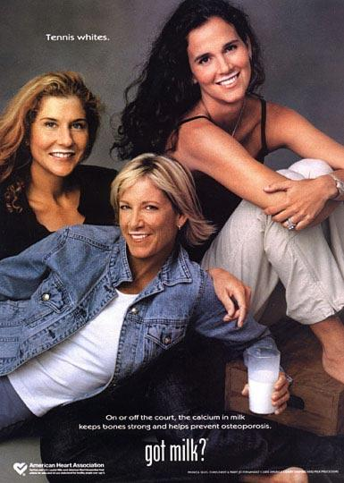 Chris Evert, Monica Seles ve Mary Jo Fernandez