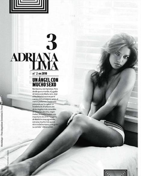 Listenin üçüncü sırasında Victoria's Secret meleği Adriana Lima yer alıyor.   Megan Fox, Amaia Salamanca, Alessandra Ambrosio ve Heidi Klum, ilk 10'a girmeyi başaran diğer isimler.  (Milliyet)