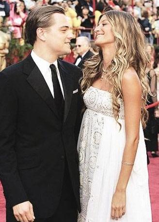 """""""The Aviator"""" filmiyle 2005 yılında En ıyi Erkek Oyuncu ödülüne aday gösterilen Leonardo DiCaprio, kırmızı halıda ünlü model Gisele Bündchen ile boy gösterdi. Altı yıllık uzatmalı sevgililer, dokuz ay sonra ayrıldı"""