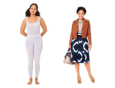 Armut tipi vücudunuz varsa;  Yani kalçalarınız geniş, üst kısmınız daha darsa, geniş desenli, çan şeklinde dizlerinize kadar uzanan etekleri tercih edebilirsiniz. Üzerinize de kalçalarınıza kadar inen bir ceket giyerseniz, harika görüneceksiniz.