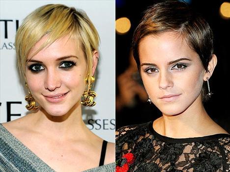 Peri kesimleri Ashlee Simpson ve Emma Watson, peri kızı gibi değil mi?
