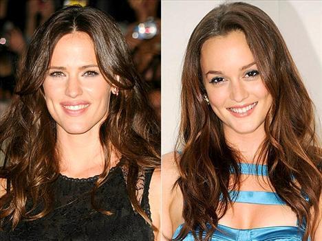 Karışık dalgalar Jennifer Garner ve Leighton Meester, yumuşak dalgalı saçlarıyla