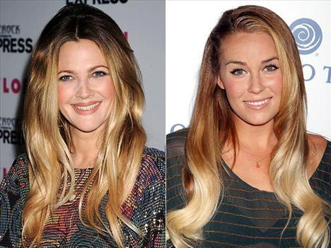 Koyudan açığa Drew Barrymore ve Lauren Conrad aynı kuaföre gidiyorlar galiba?