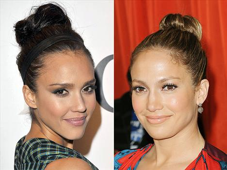 Kuyruk zerafeti Jessica Alba ve Jennifer Lopez at kuyruğu ile moden görüyolar