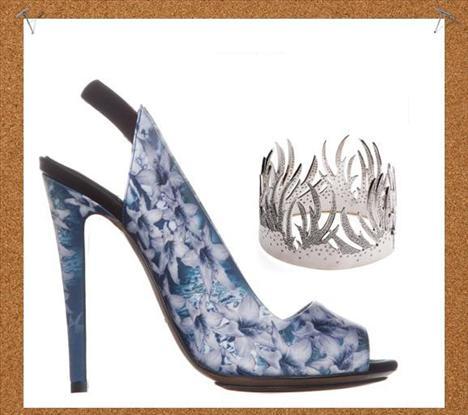 Doğaya farklı bir bakış  Beyaz altın ve pırlantalarla süslenmiş kuş tüyleri görünümünde bir bilezik ya da Nicolas Kirkwood tasarımı zambak desenleriyle süslü bu platform ayakkabılarla, doğaya farklı bir anlam katacaksınız.
