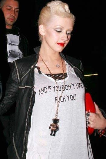 "Christina Aguilera  ""Ve hoşuna gitmediyse s***** git"""