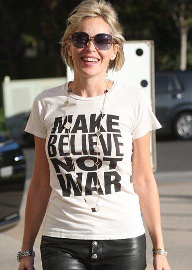 "Sharon Stone  ""Savaşma inan"""