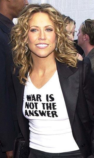 """Sheryl Crow  """"Savaş çare değil"""""""
