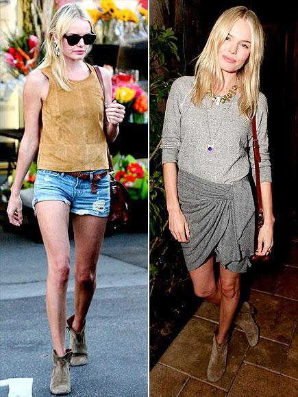 Kate Bosworth'un bootileri Bu tarz bilekte biten bootilerinizi hem şortlarınızın altına, hem de mini eteklerinizin altına rahatlıkla giyebilirisiniz. Üstelik iki farklı görünüm elde edebilirsiniz.
