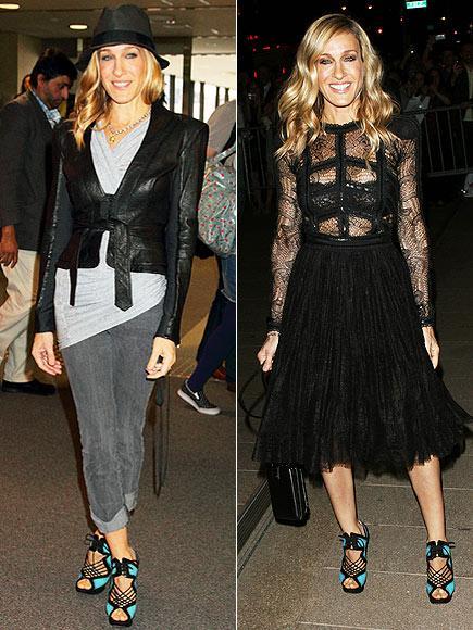 Sarah Jessica Parker'ın ayakkabıları Siz de kendinize SJP'ninkiler gibi renkli bir çift stiletto alırsanız, bu ayakkabıları hem gündüz hem de gece rahatlıkla giyebilirsiniz.