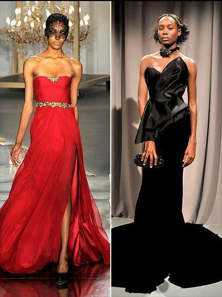 Bize sorarsanız Resse Witherspoon'a kırmızı ve altın işlemelerle süslenmiş bu straplez Jason Wu elbise çok yakışır. Ya da klasiklerden şaşamayıp siyah ve cesur bu Marchesa ile kırmızı halıda yürüyebilir.