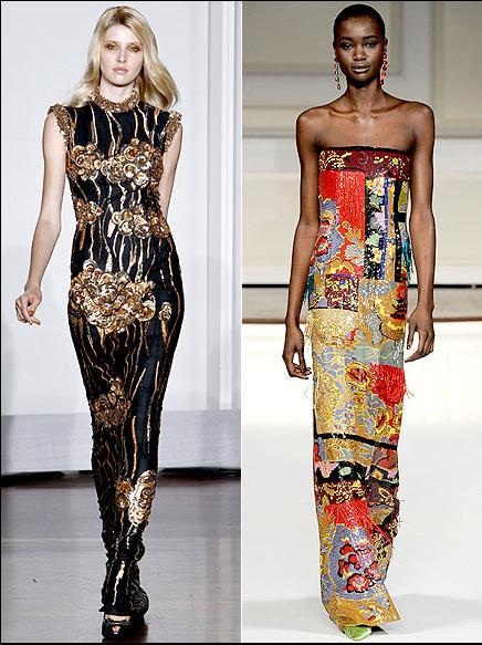 Kidman'ın kırmızı halı için etnik esintiler taşıyan bir elbise seçmesi kuvvetle muhtemel. Bunun için en iyi örnekler ise siyah ve altın renklerinden oluşan L'Wren Scott ya da parlak renkleriyle dikkat çeken Oscar De La Renta.