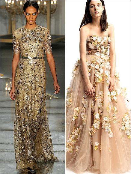 Bu yıl kırmızı halı için Michelle Williams'ın hoşuna gidebilecek elbiseler arasında Altın sarısı ve gümüş işlemelerle süslenmiş Jason Wu ve Floral bir Valentino var.