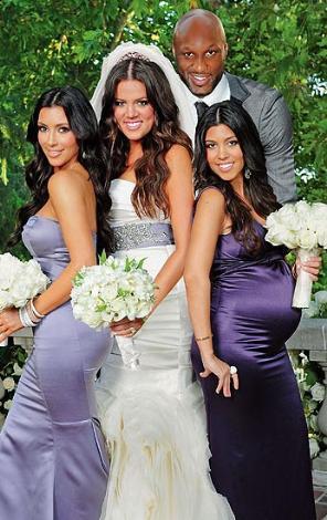 Üç kız kardeşin en küçüğü Khloe, Lamar Odom ile görkemli bir törenle hayatını birleştirdi.