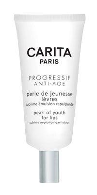 Carita Perle  de Jeunesse  Levres  İçindeki inci tozları ve dolgunlaştırıcı peptidler ile dudaklara genç bir görünüm veriyor, dudak kontürünü belirginleştiriyor ve çizgilerin görünümünü hafifletiyor.   Fiyatı: 125 TL.