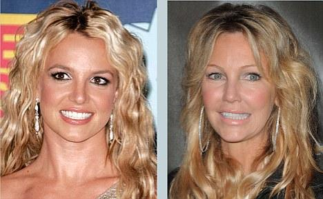 Britney Spears, Heather Locklear'ın kızkardeşi