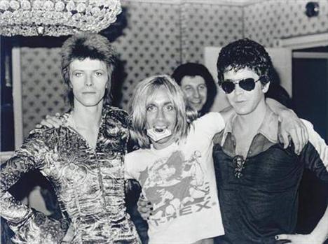 Lou Reed, Iggy Pop, David Bowie