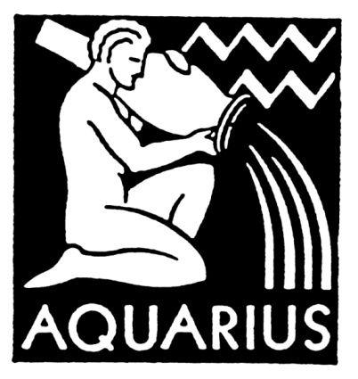 Aquarius / Water bearer / Kova (21 Ocak-19 Şubat)  Bu da orijini Mezopotamya'ya uzanan bir semboldür. Başlangıçta dünyaya ölümsüzlük suyu döken Tanrı, kaz ve tavus kuşu figürleriyle gösterilen bu burç Yunan mitolojisinde, Olimpus dağına götürülüp orada Tanrı Zeus tarafından diğer Tanrılara şarap dağıtmakla görevlendirilen bir çobanı temsil eder.